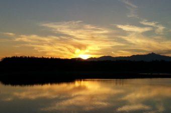 熊野の朝日とふるさとファームの夕日