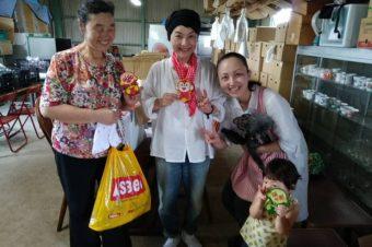 福岡県朝倉市の支援物資の郵送作業